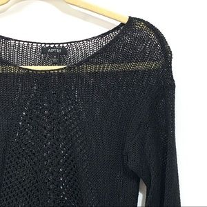 Apt 9 Open knit see through sweater